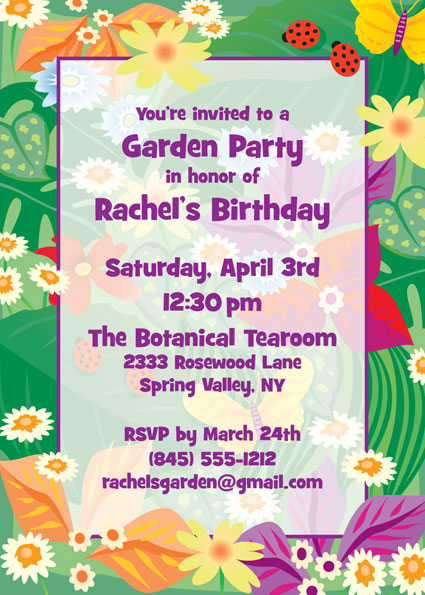 Garden Invitation / Simple summer invitation