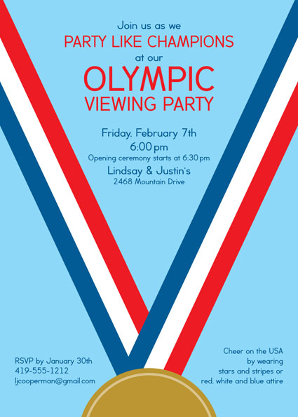 Patriotic - Olympic party invitation template