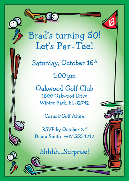 Golf Party Invitation / A great golf party invitation
