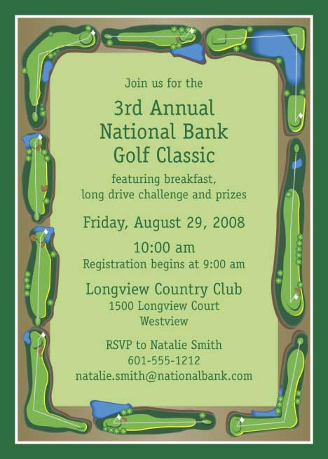 Golf Outing Nine Holes Invitation