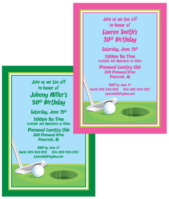 Birthday Golf Invitation