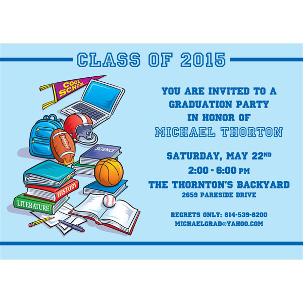 Graduation Sports Invitation / Perfect graduation party invitation for the student athlete!
