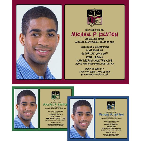 Graduation Law School Invitation