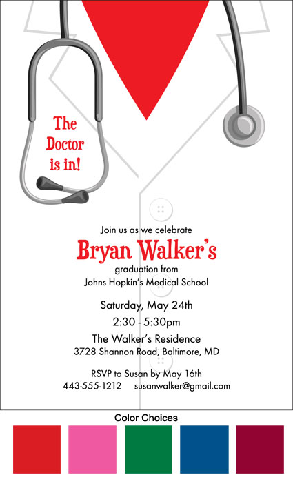 Graduation Doctor's Coat Invitation