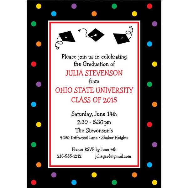 Graduation Dots Invitation