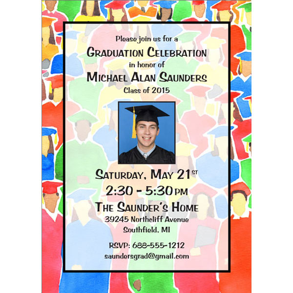 Graduation Crowd Invitation