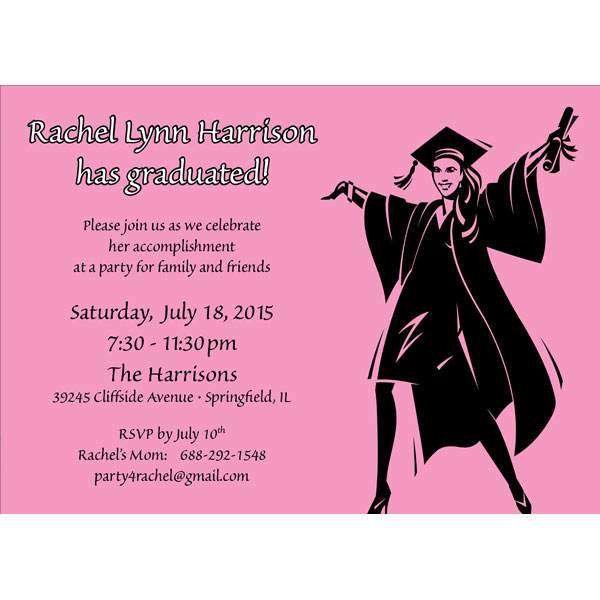 Graduation For Her Character Invitation