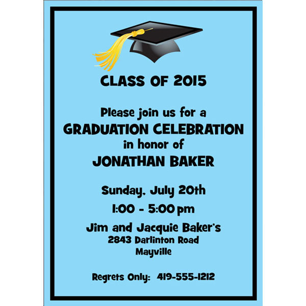Graduation For Him Invitation