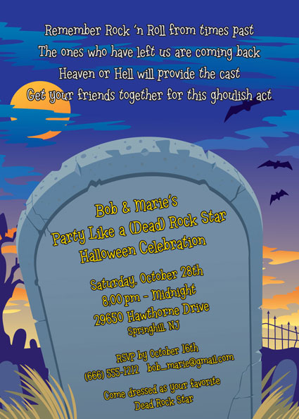 Halloween Graveyard Invitation