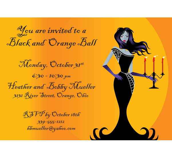 Halloween Ball Invitation / This Halloween Party Invitations is great for a costume ball.