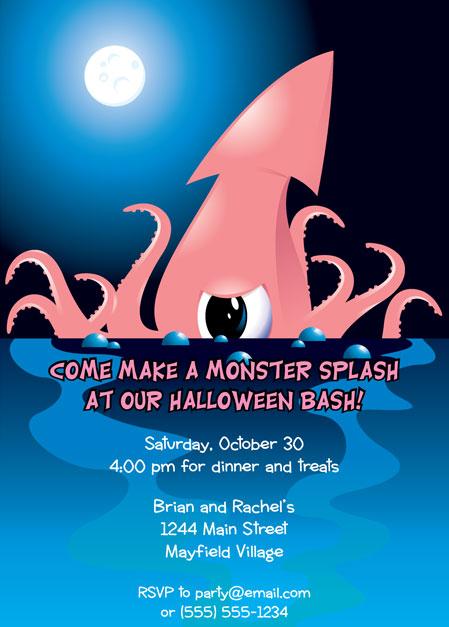 Halloween Sea Creature Invitation