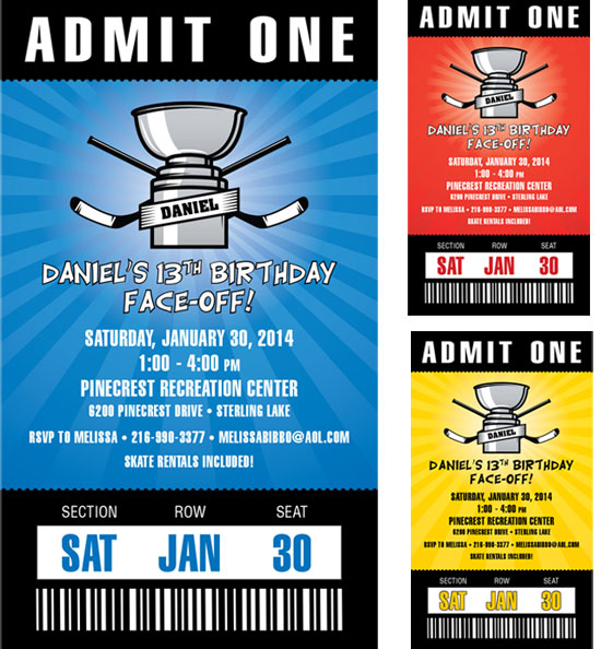 Hockey Cup Invitation Pass