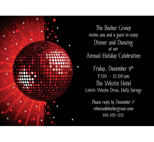 Holiday Party Invitation / Get your guests excited to dance with this holiday dance party invitation