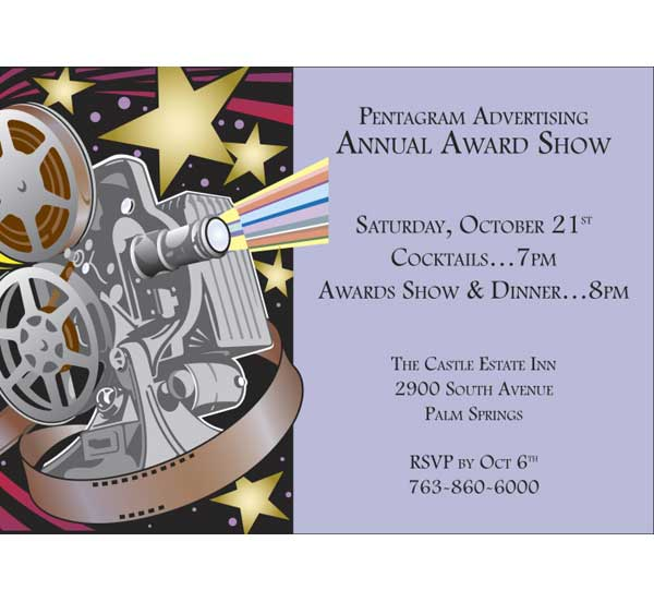 Movie Film Reel Party Invitation