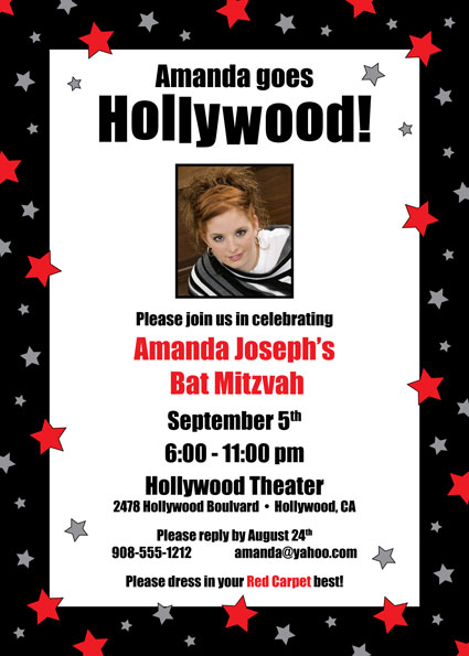 Hollywood Star Party Photo Invitation / Picture Perfect!
