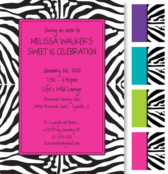 Jungle Prints Invitation / A different take on the jungle theme.