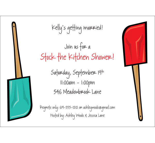Bridal Shower Kitchen Invitation / A fun kitchen shower invitation