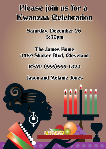 Kwanzaa Celebration Invitation / Kwanzaa Party Invitation.