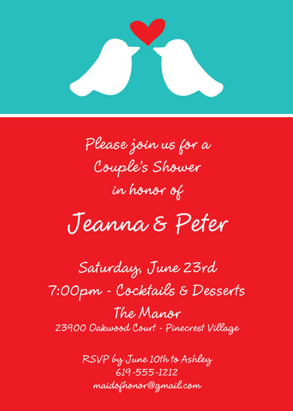 A Lovebirds Invitation