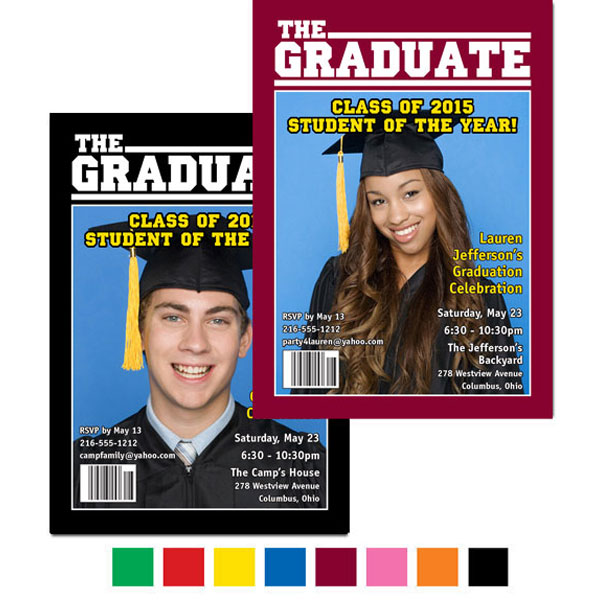 Graduation Magazine Cover Invitation / Your graduate is famous on their own magazine cover!