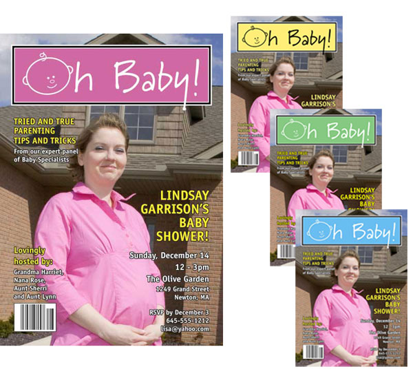 Baby Magazine Cover Invitation
