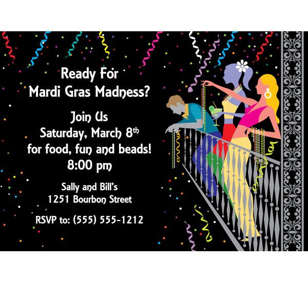 A Mardi Gras Balcony Invitation / Ready for Mardi Gras Madness?
