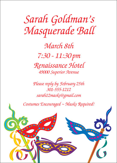 Mardi Gras Madness Invitation / A colorful, fun invitation.