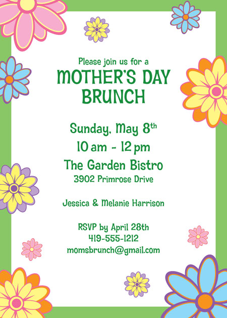 Mothers Day Party Invitation / This theme invite will excite your guests