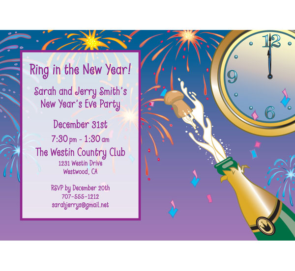 a new years eve toast invitation