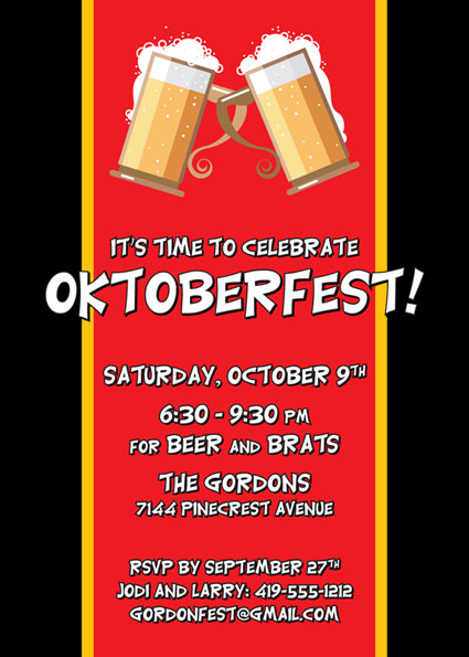 Oktoberfest Flag Invitation