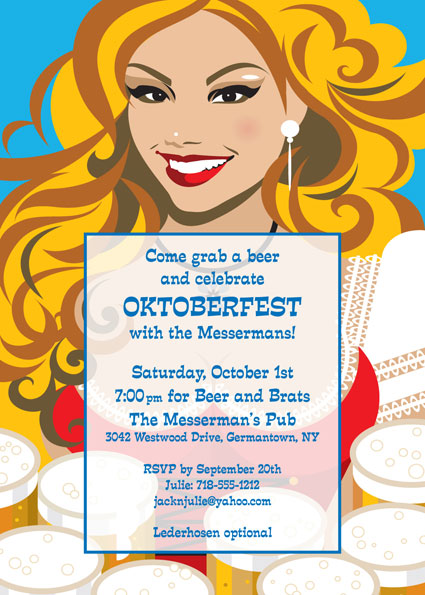 Oktoberfest Brew Invitation