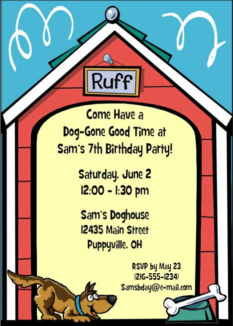 Puppy Dog Theme Party Invitation / The puppy dog party is one of our most popular kid's themes.