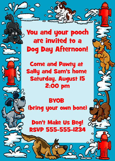 Puppy Party Invitation / It's a dog day afternoon!