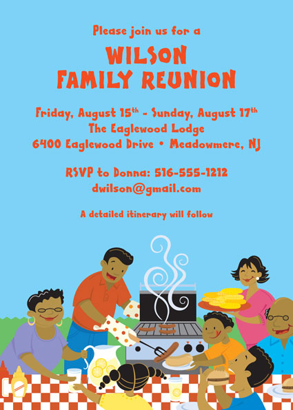 A Family Reunion Party Invitation  Family Reunion Invitation Cards