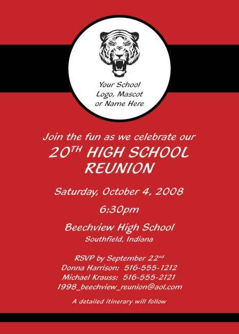 Reunion Party Invitation, Red / Reunited and it feels so good!