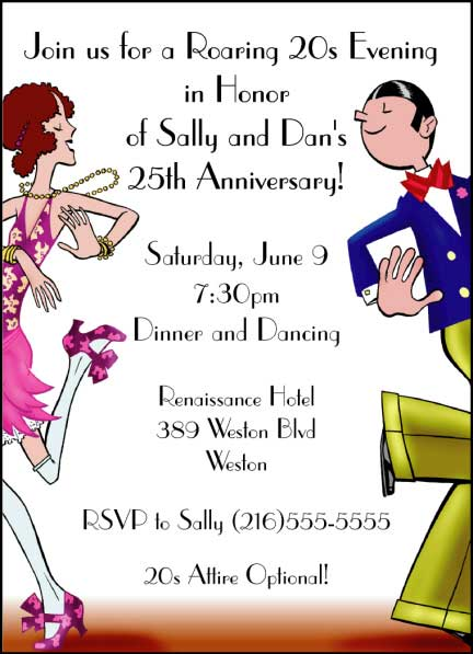 Roaring 20s Dancers Invitation / How much fun is the Charleston?