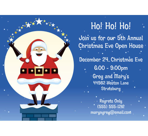 Christmas Santa Magic Invitation