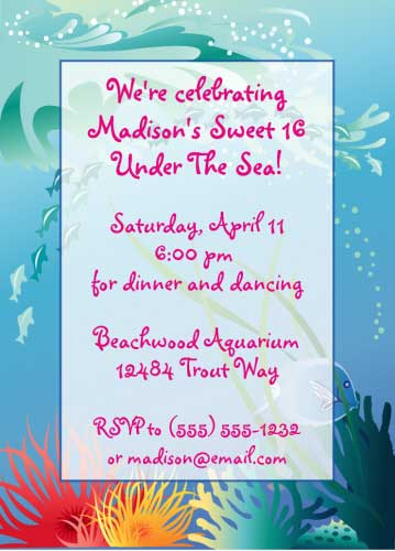 Under The Sea Invitation / Fun for a party Under the Sea!