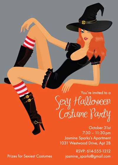 Halloween Sexy Party Invitation / A great sexy Halloween invitation for your Halloween bash.