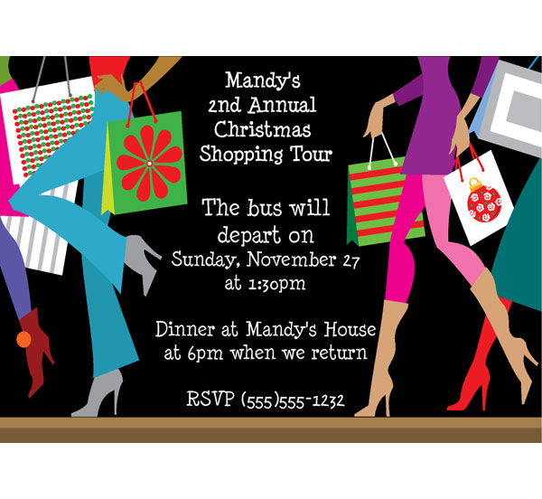 Christmas Shopping Invitation / Perfect invitation for a pre-Christmas Shop Party!
