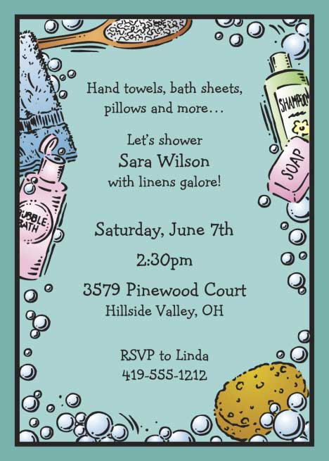 Bridal Bath Shower Invitation