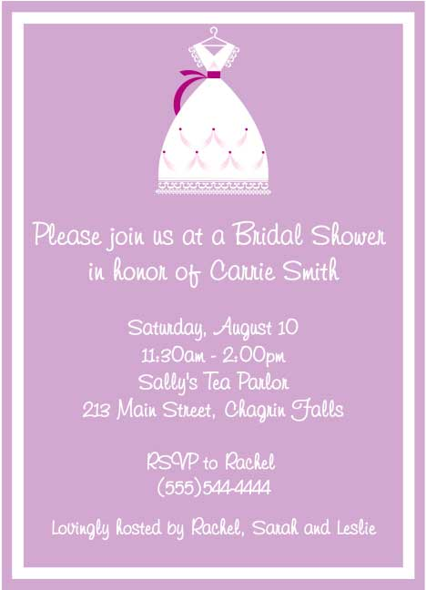 Bridal Dress Invitation / If the dress fits bridal shower invitation.