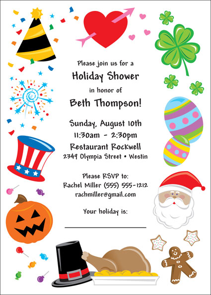 Bridal Shower Holiday Theme Invitation / A great holiday shower invitation