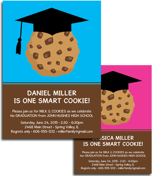 Graduation Smart Cookie Invitation