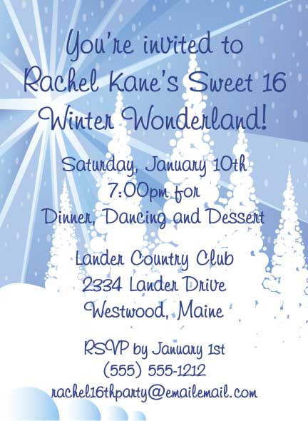 Winter Wonderland Invitation / A Winter Wonderland theme invitation