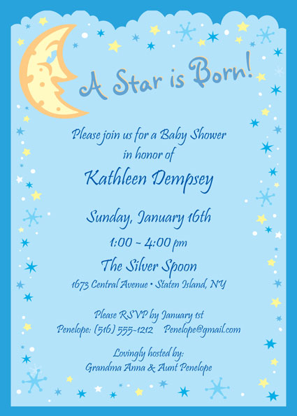 Baby Shower Stars and Moon Invitation / A Star is Born with this Baby Shower Invite.