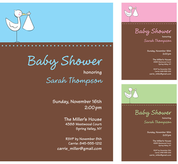 A Baby Stork Invitation