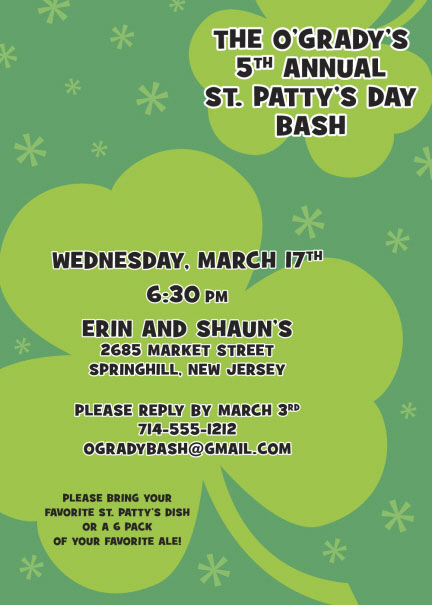 St. Patrick's Day Irish Invitation