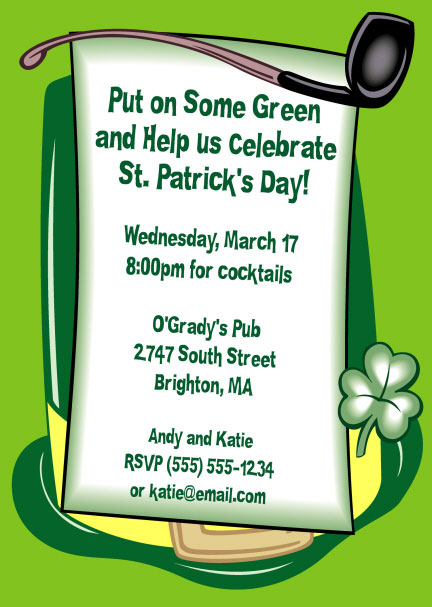 St. Patricks Day Derby Invitation / Put on some green and celebrate with this St. Patrick's Day Party invite.