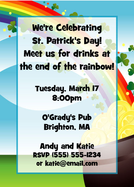 party411 st patrick s day invitations